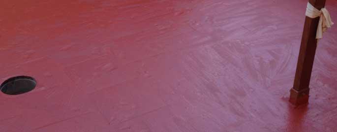 Impermeabilización con pintura acrílica